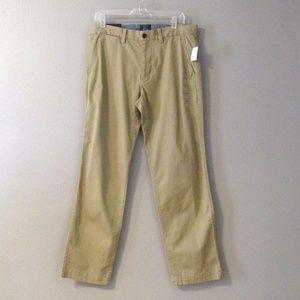 NEW GAP Khakis Straight Leg Stretch Tan Size 32